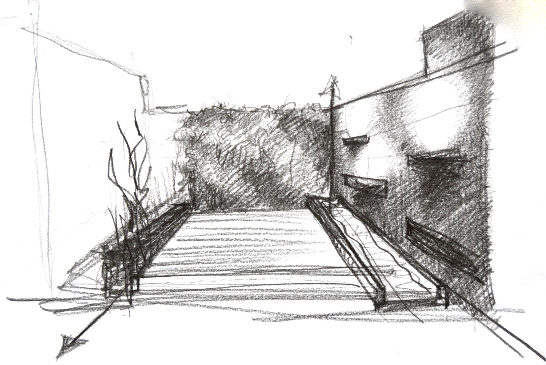 Patio Sketch - Giovanni Antico Architect
